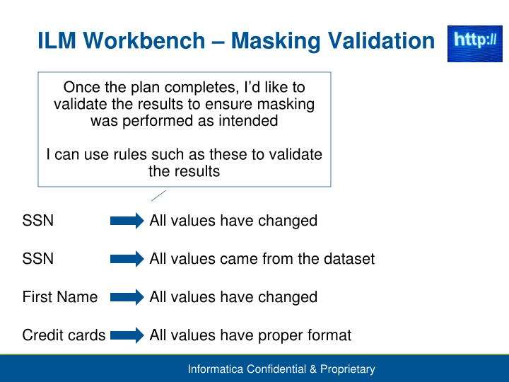ILM Workbench – Masking Validation
