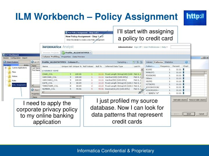 ILM Workbench – Policy Assignment
