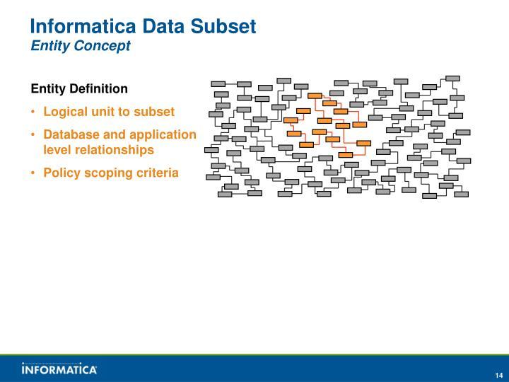 Informatica Data Subset