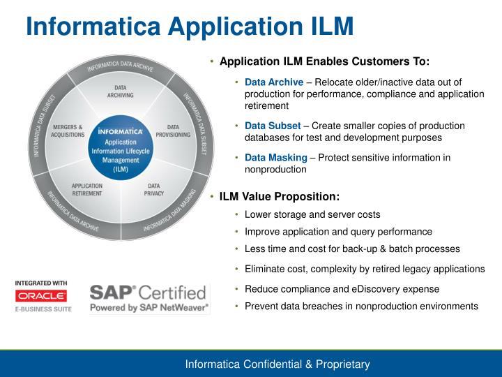 Informatica Application ILM