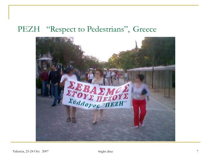 "PEZH   ""Respect to Pedestrians"","