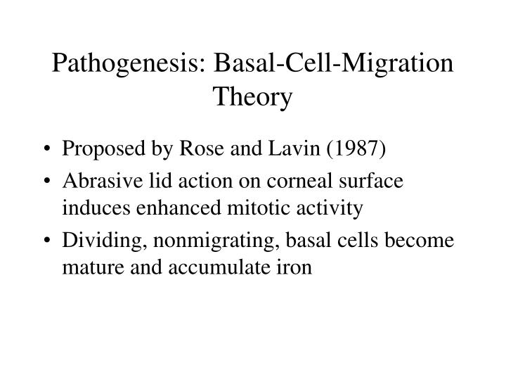 Pathogenesis: Basal-Cell-Migration Theory
