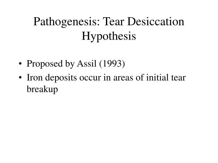 Pathogenesis: Tear Desiccation Hypothesis