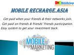 mobile recharge asia