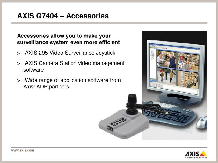 AXIS Q7404 – Accessories
