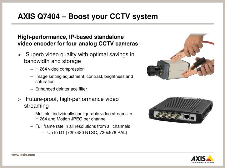 AXIS Q7404 – Boost your CCTV system