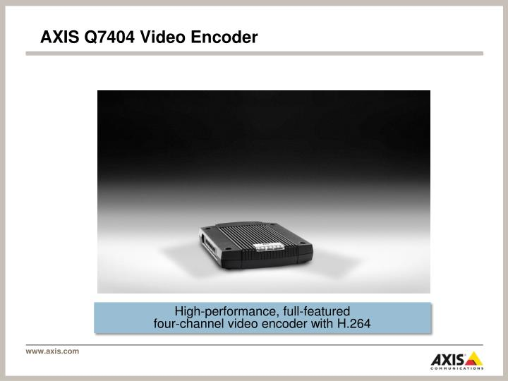 Axis q7404 video encoder1