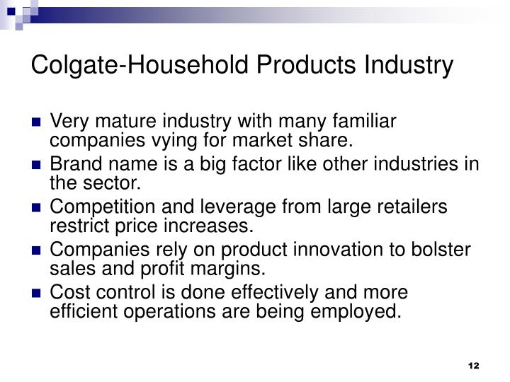 Colgate-Household Products Industry