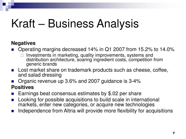 Kraft – Business Analysis
