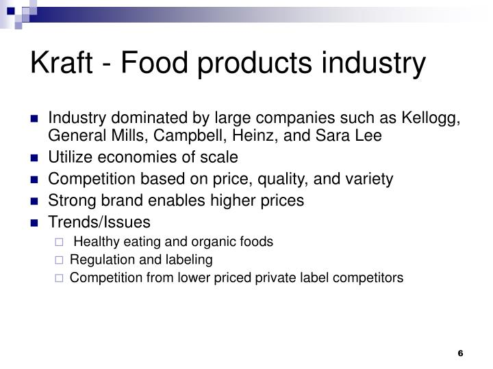 Kraft - Food products industry