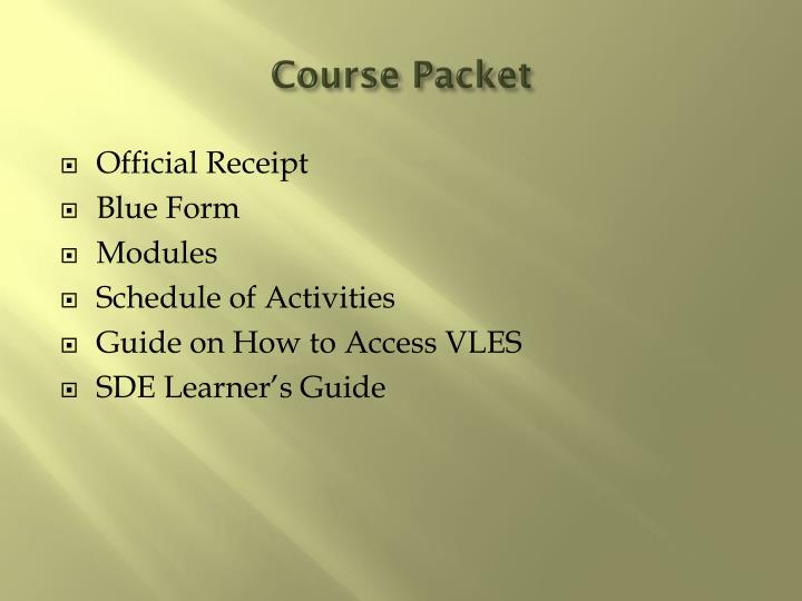 Course packet