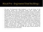 about pre engineered steel buildings