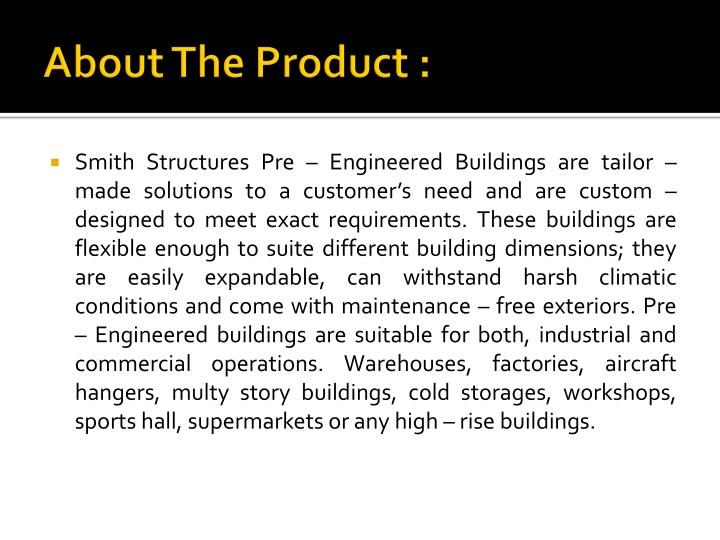 About The Product :
