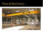 plant machinery