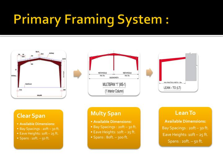 Primary Framing System :