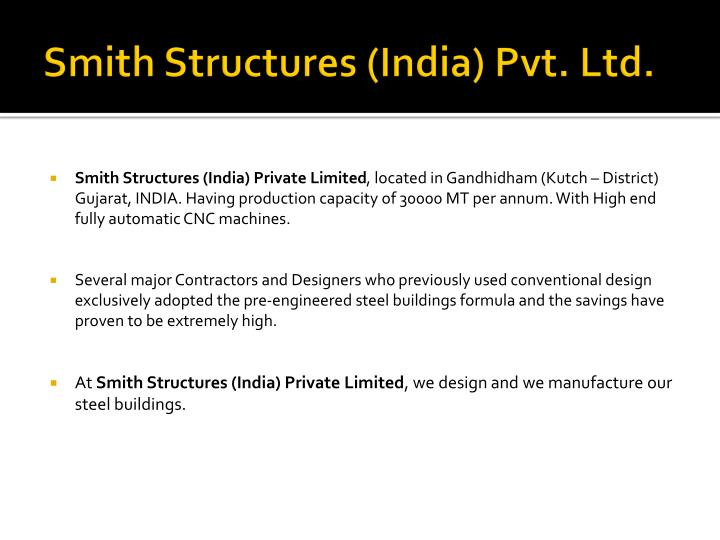 Smith Structures (India) Pvt. Ltd.