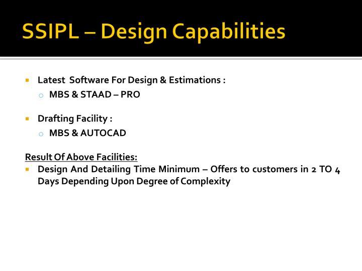 SSIPL – Design Capabilities