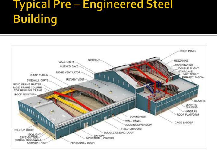 Typical Pre – Engineered Steel Building