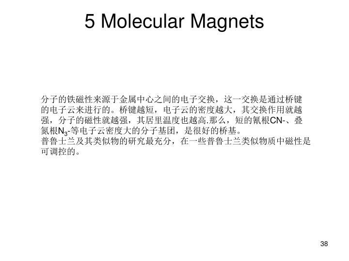 5 Molecular Magnets