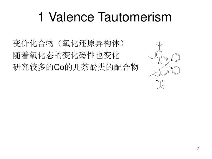 1 Valence Tautomerism