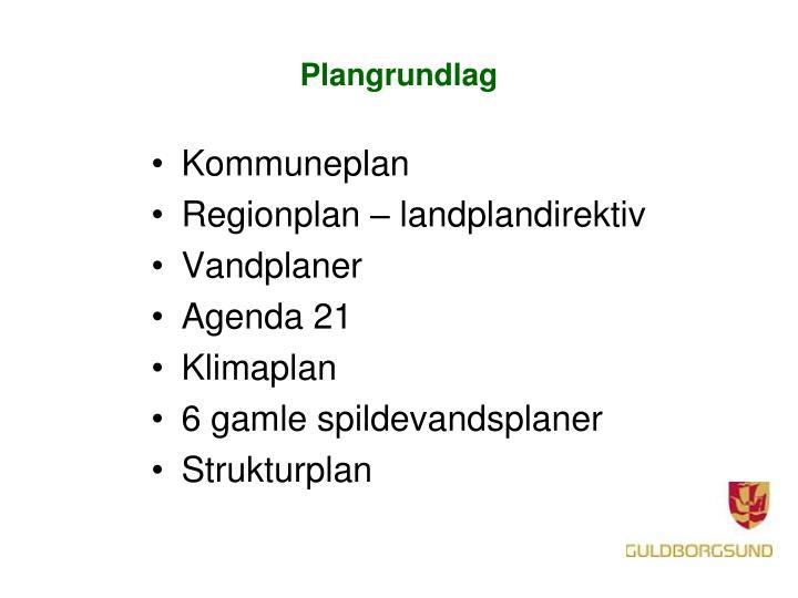 Plangrundlag