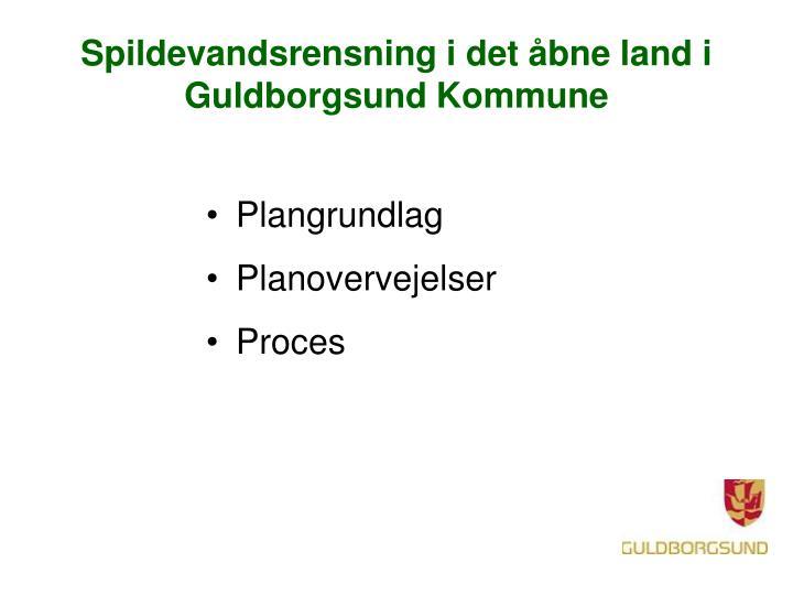 Spildevandsrensning i det åbne land i Guldborgsund Kommune