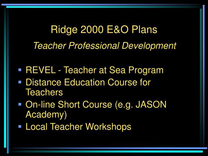Ridge 2000 E&O Plans