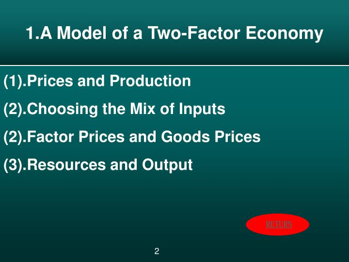 1.A Model of a Two-Factor Economy