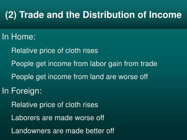 (2) Trade and the Distribution of Income