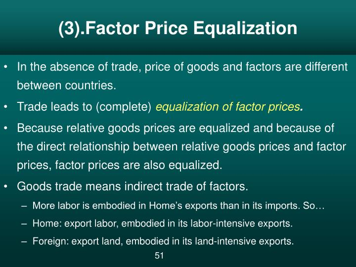 (3).Factor Price Equalization