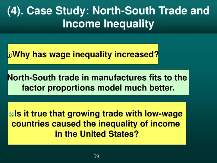 (4). Case Study: North-South Trade and Income Inequality