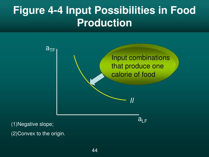 Figure 4-4 Input Possibilities in Food Production