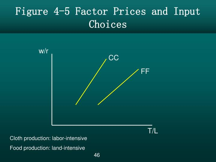 Figure 4-5 Factor Prices and Input Choices