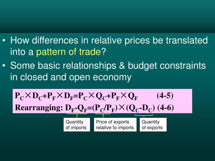 How differences in relative prices be translated into a