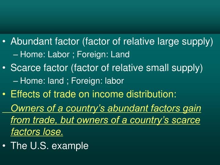 Abundant factor (factor of relative large supply)