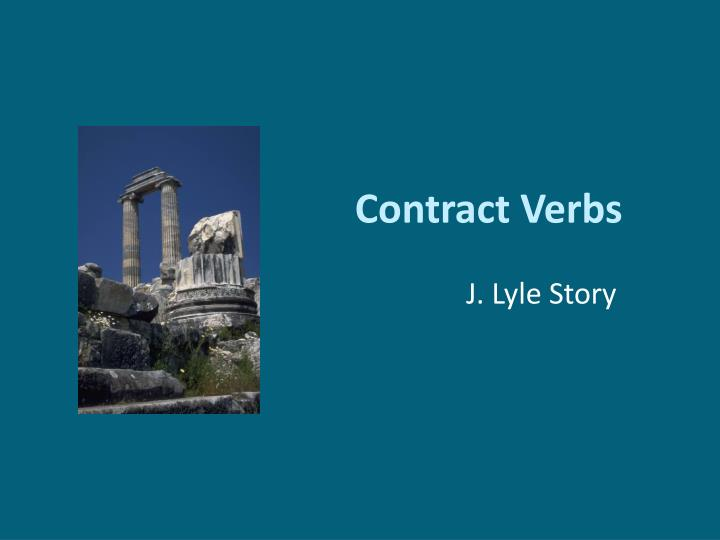 Contract verbs