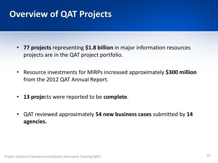 Overview of QAT Projects