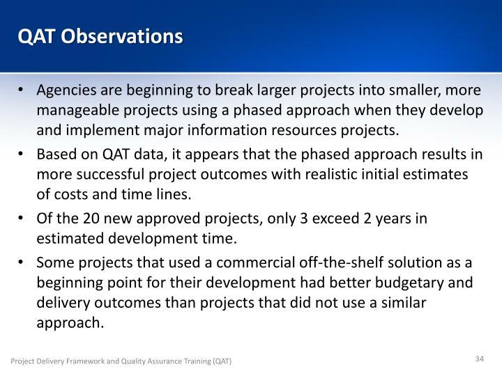 QAT Observations