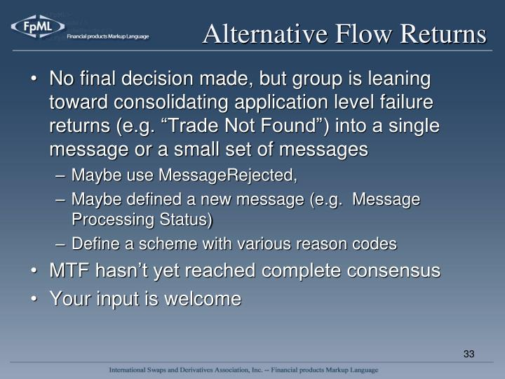 Alternative Flow Returns