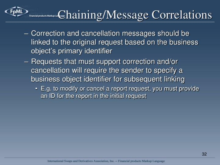 Chaining/Message Correlations