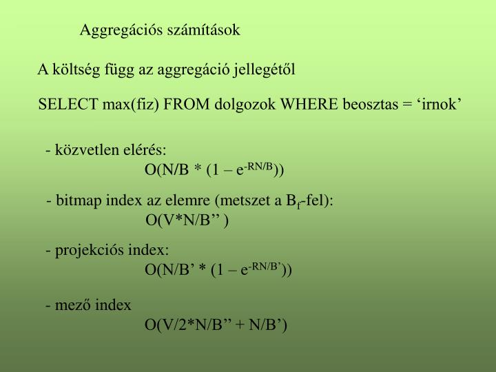 Aggregációs számítások