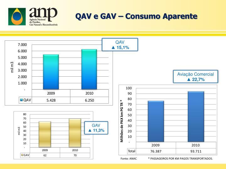 QAV e GAV – Consumo Aparente