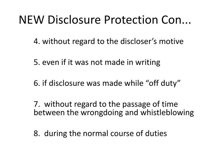 NEW Disclosure Protection Con...