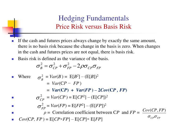 Hedging Fundamentals