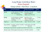 long hedge with basis risk basis expands change in basis short basis long basis1