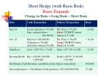 short hedge with basis risk basis expands change in basis long basis short basis1