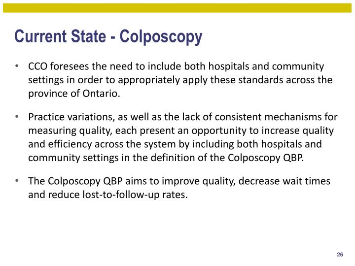 Current State - Colposcopy