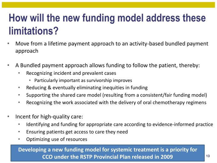How will the new funding model address these limitations?
