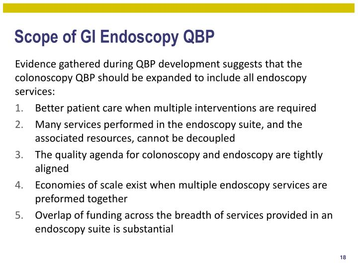 Scope of GI Endoscopy QBP