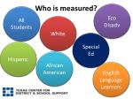 who is measured
